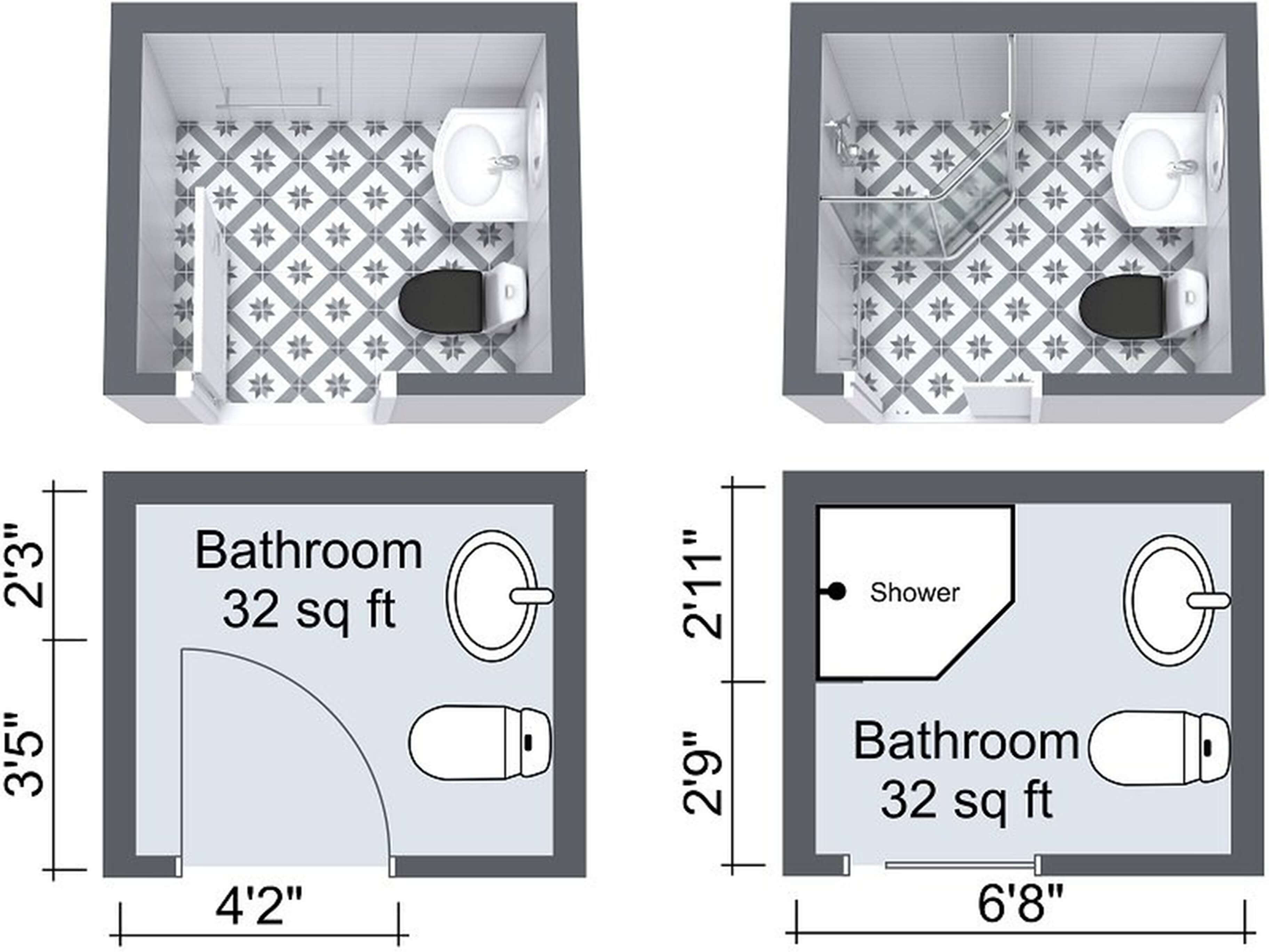Bathroom Size And E Arrangement
