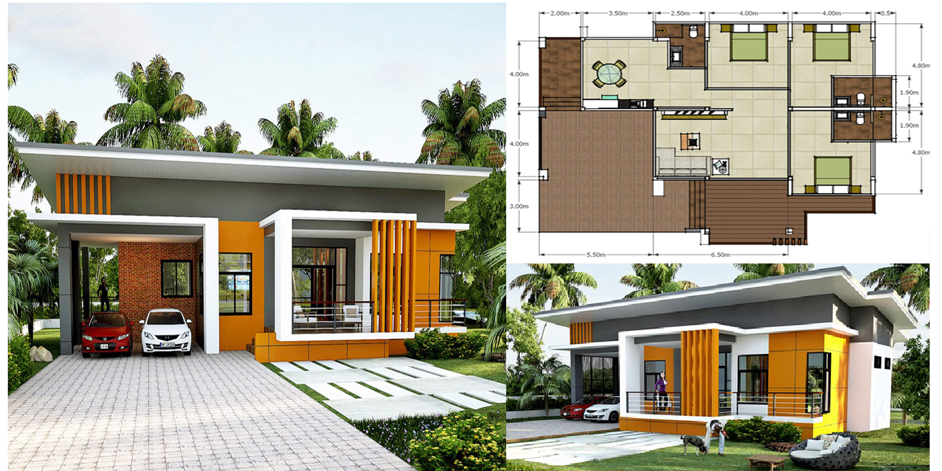 Modern single storey house with plan engineering discoveries
