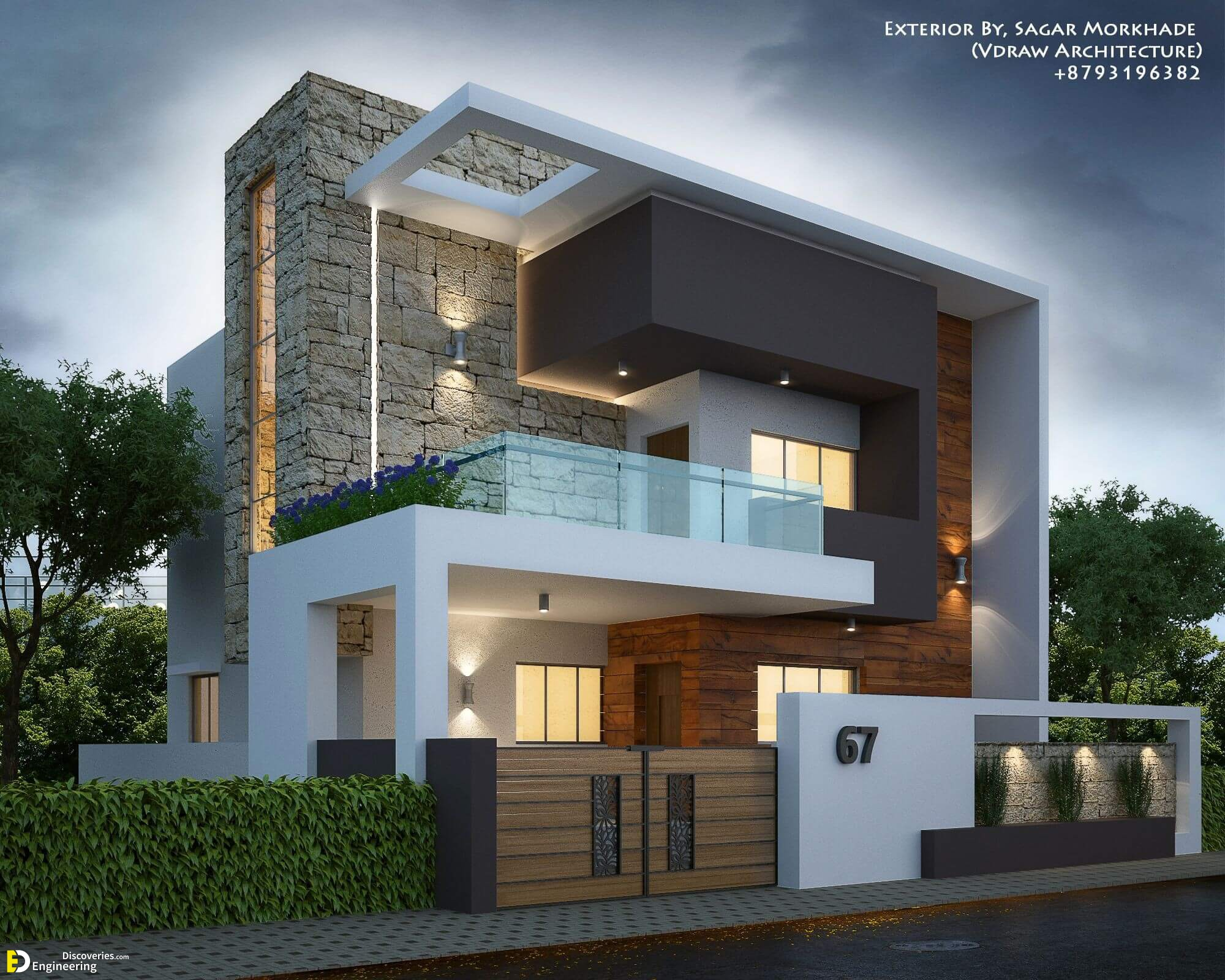 Outside Staircase Grill Designs Indian Houses