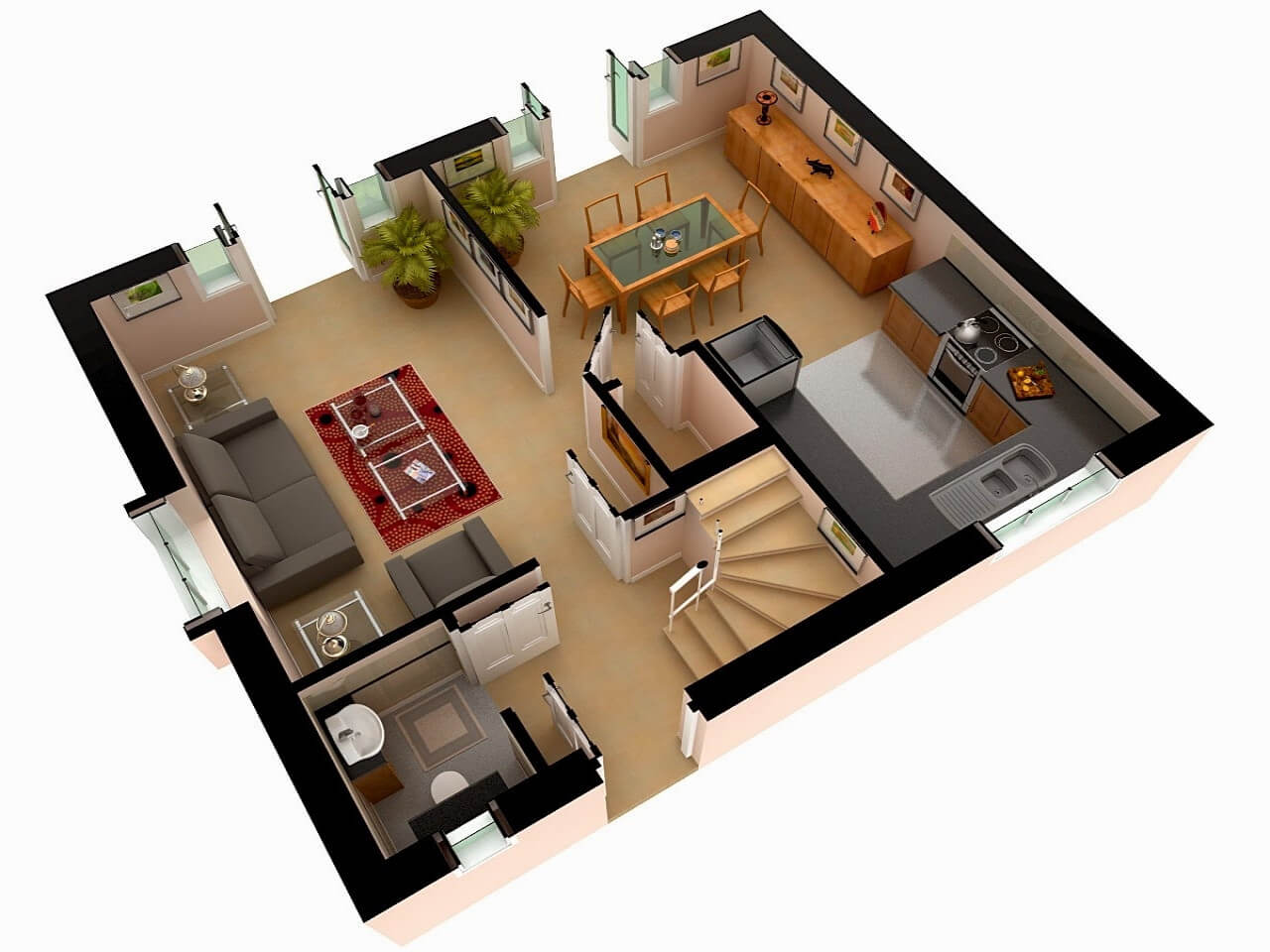 Amazing Top 50 House 3D Floor Plans - Engineering Discoveries