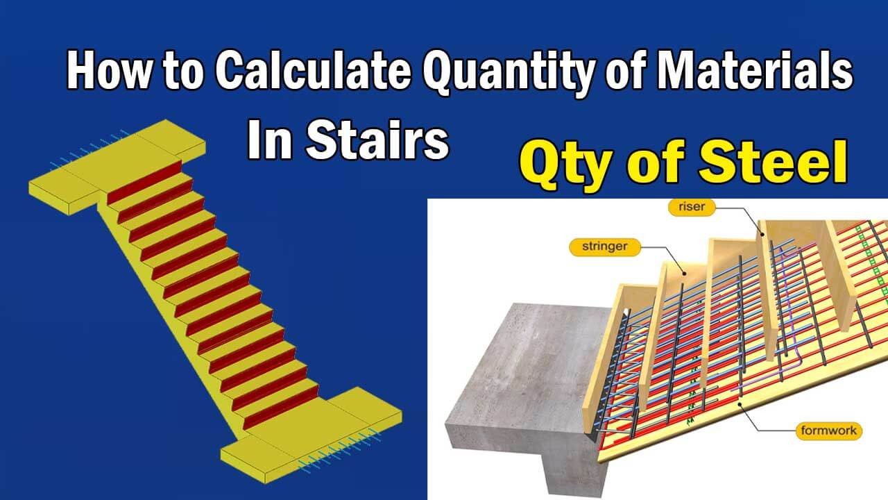 How to Calculate Quantity Of Materials In Stairs - Engineering