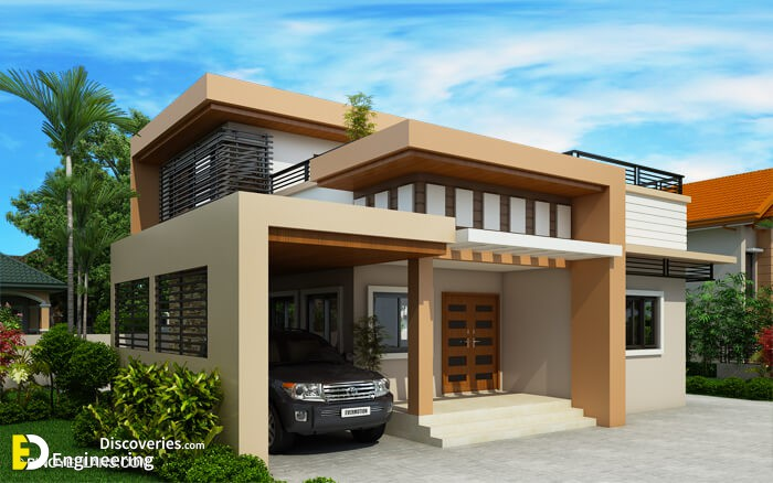 Kassandra Two Storey House Design With Roof Deck
