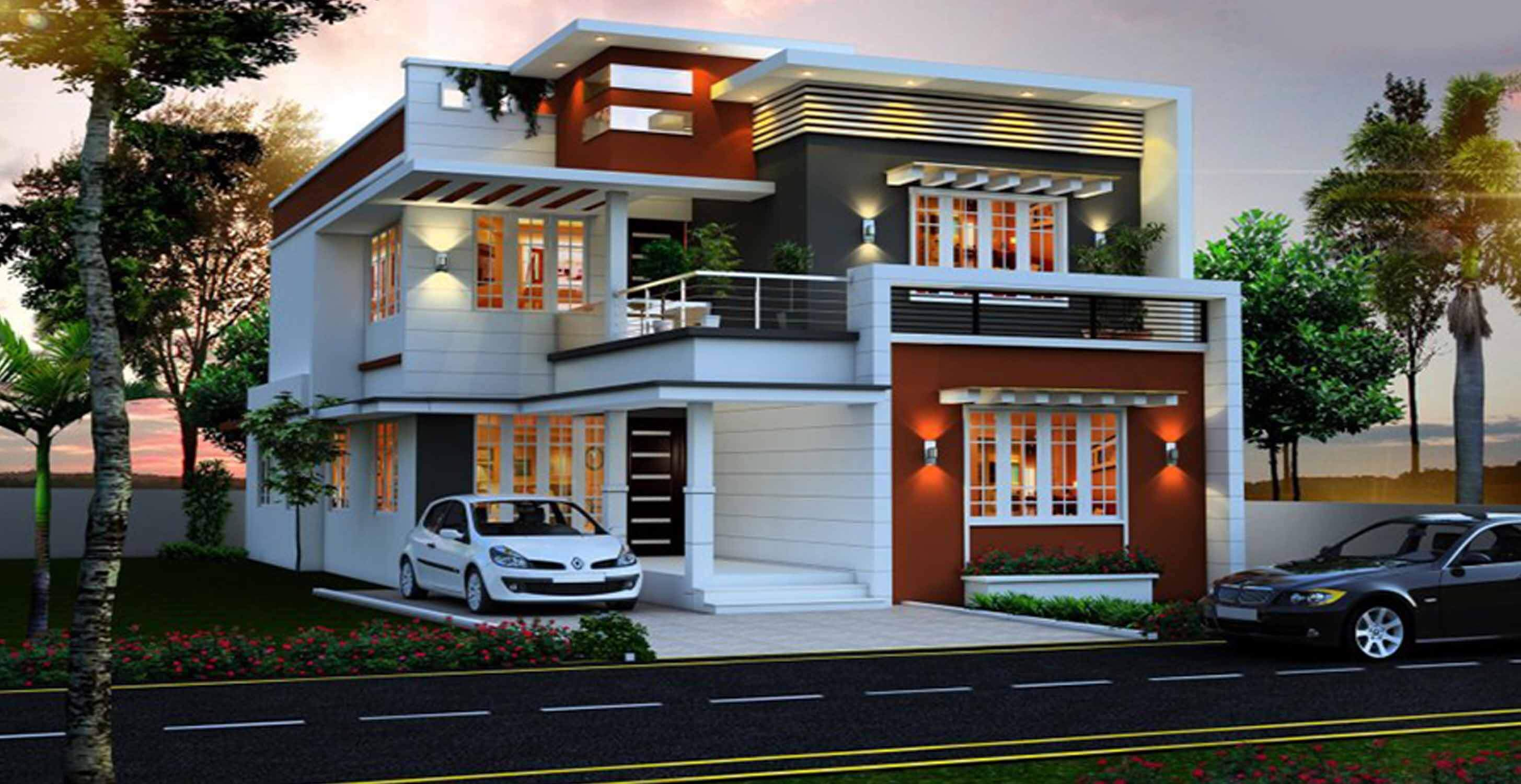 Luxury Houses Front Elevation Design