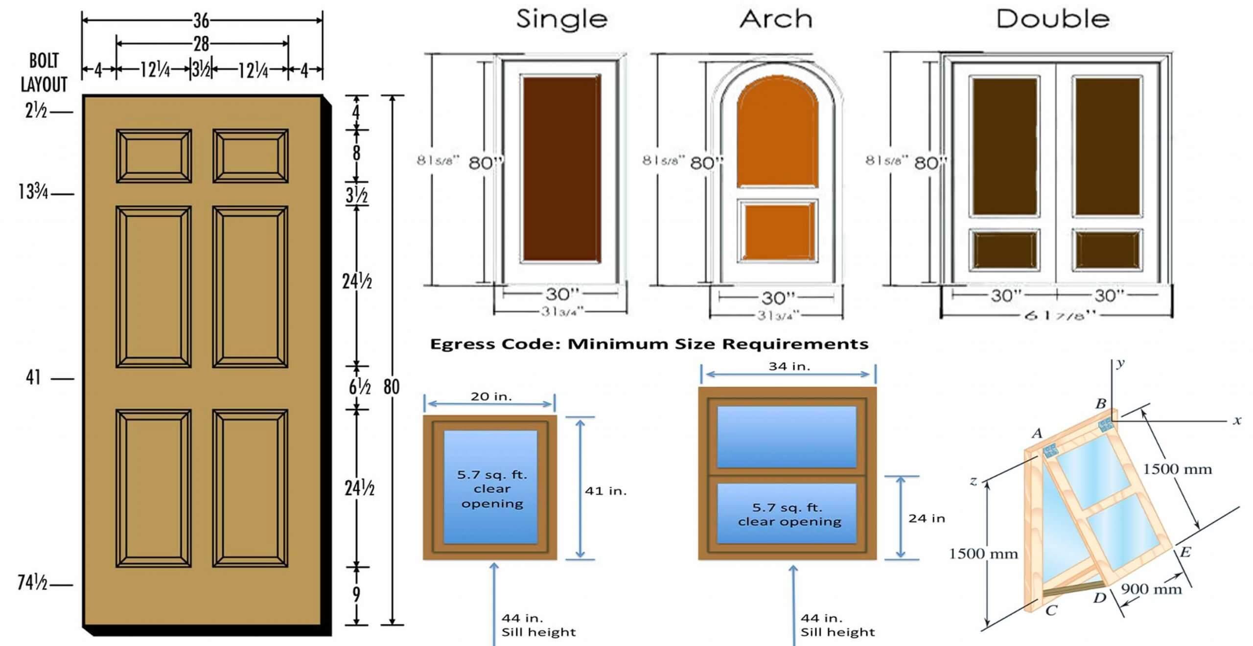 Standard Dimensions Of Door And Window
