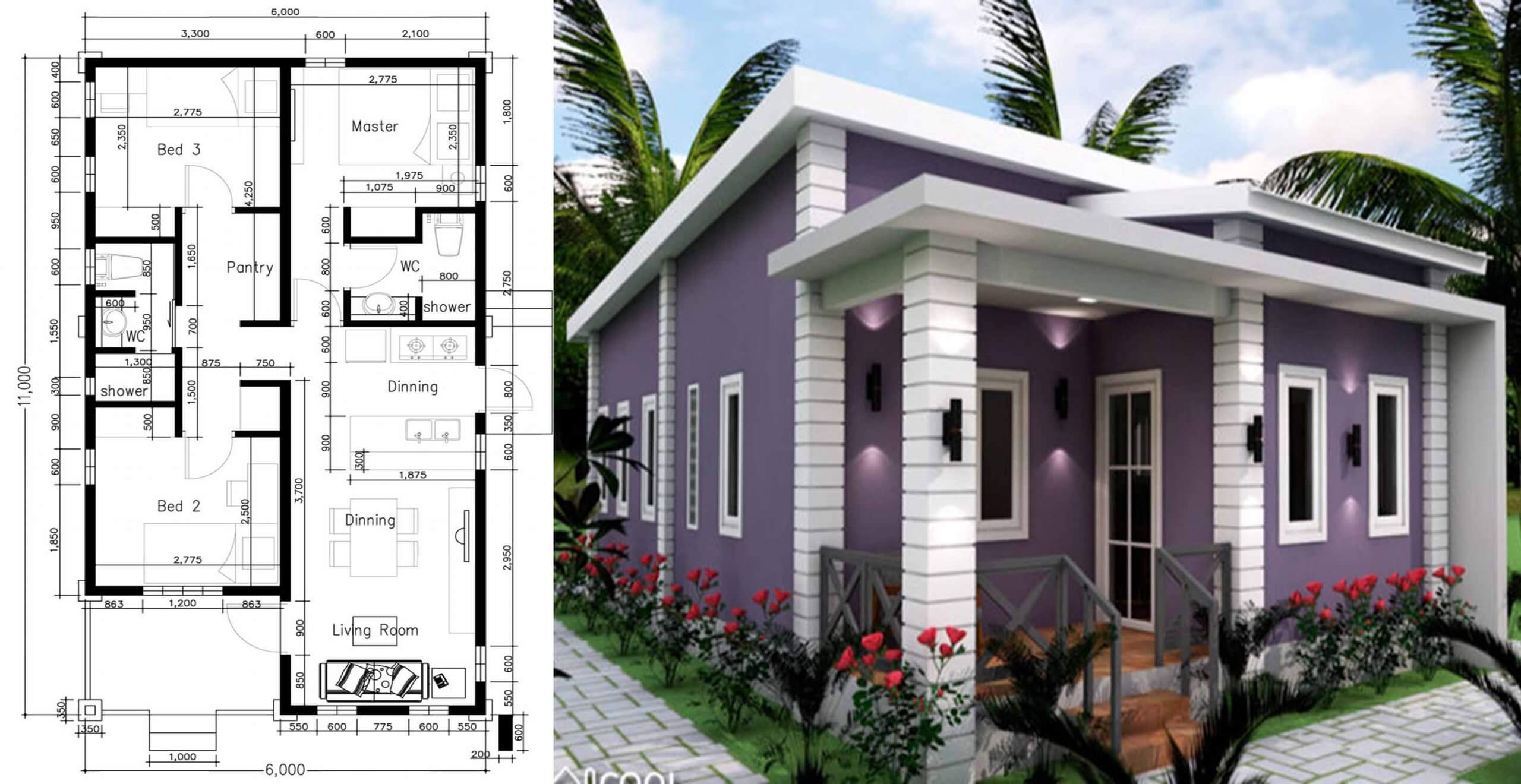 Pleasing Amazing 3 Bedrooms Small House Plan Engineering Discoveries Download Free Architecture Designs Rallybritishbridgeorg