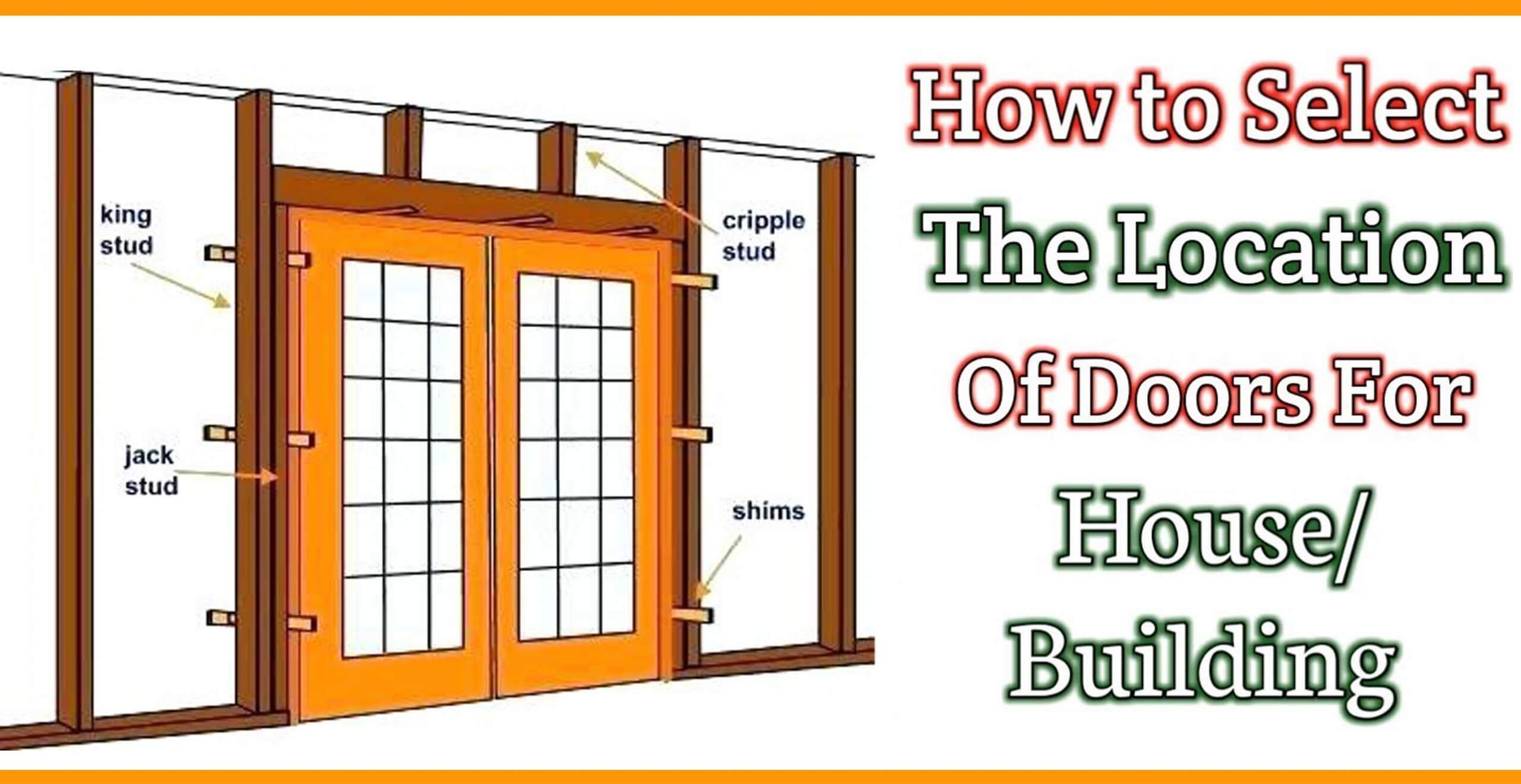 Select The Location Of Doors For House