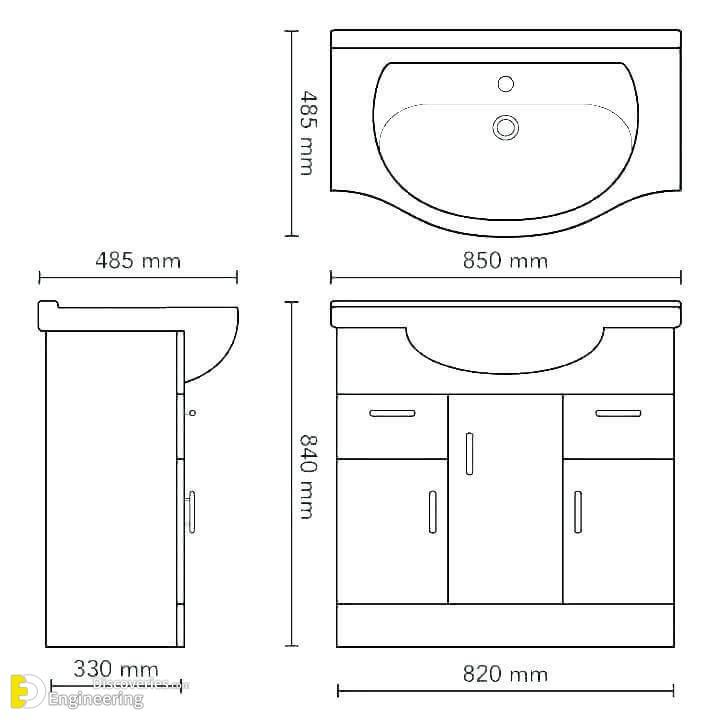 Bathroom Sink Standard Height Artcomcrea