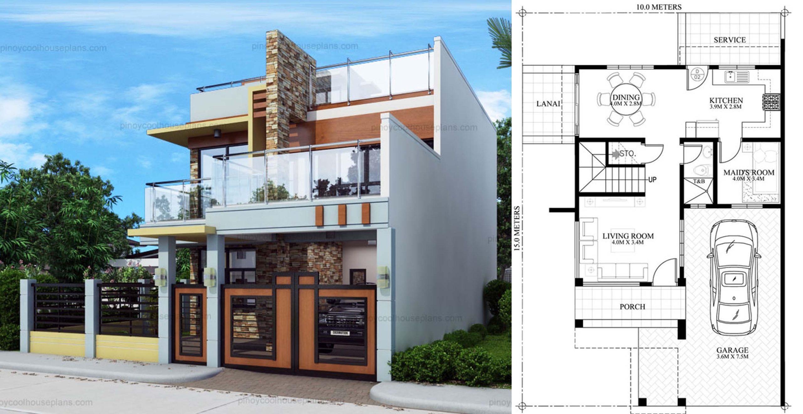 Splendid Modern Double Storey House + Plan - Engineering ...