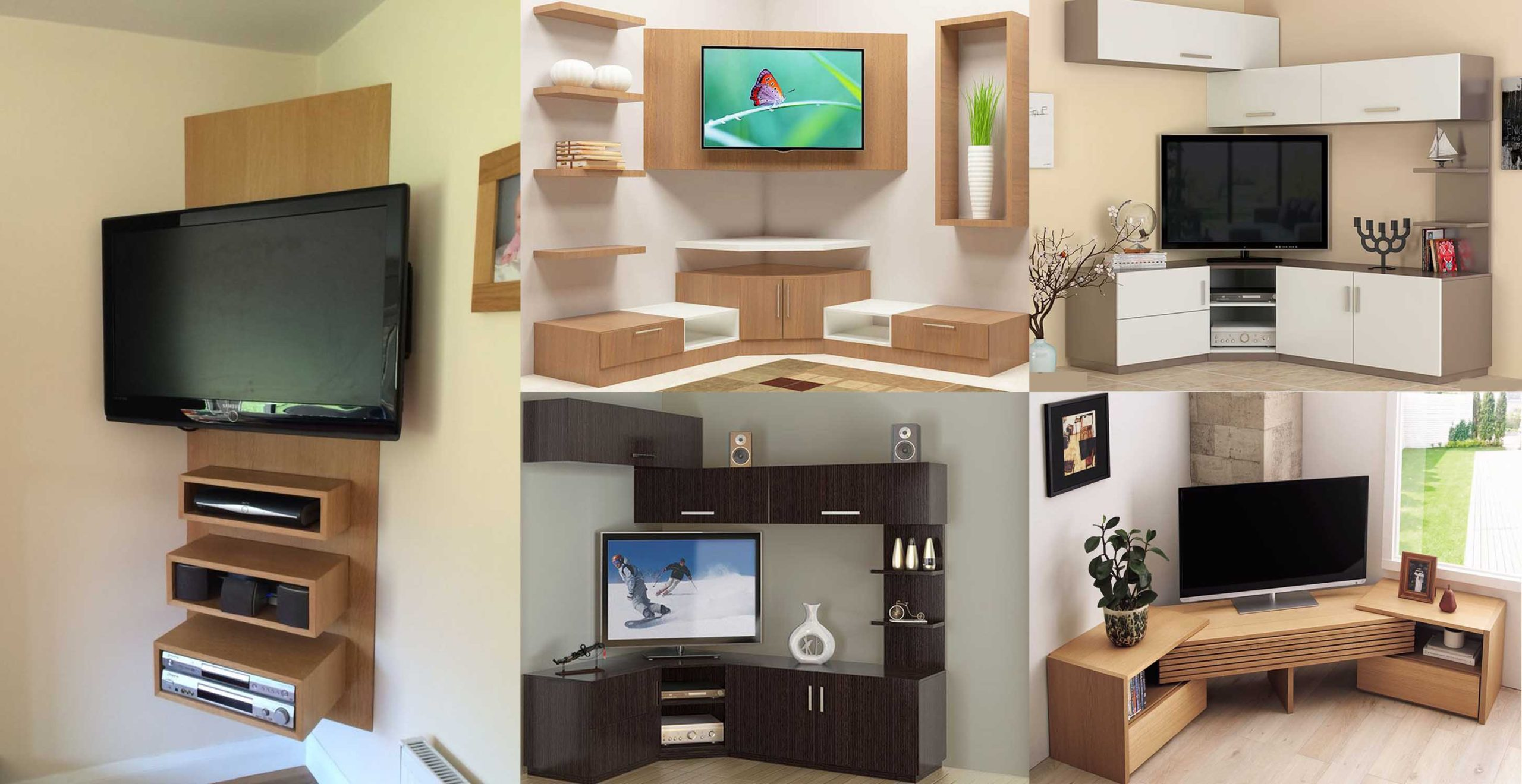 Beautiful Corner TV Stand Ideas   Engineering Discoveries