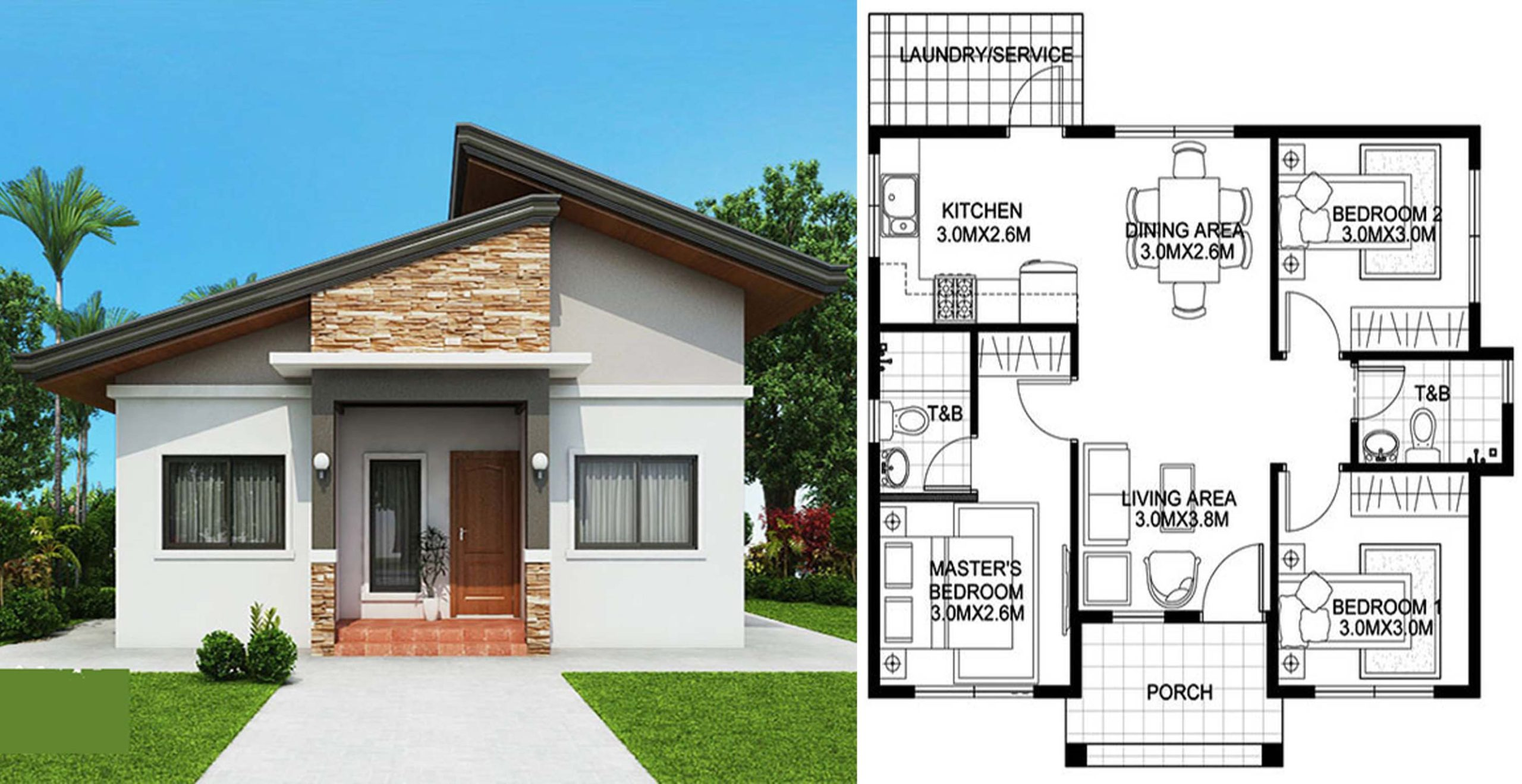 3 bedroom bungalow house plan - engineering discoveries