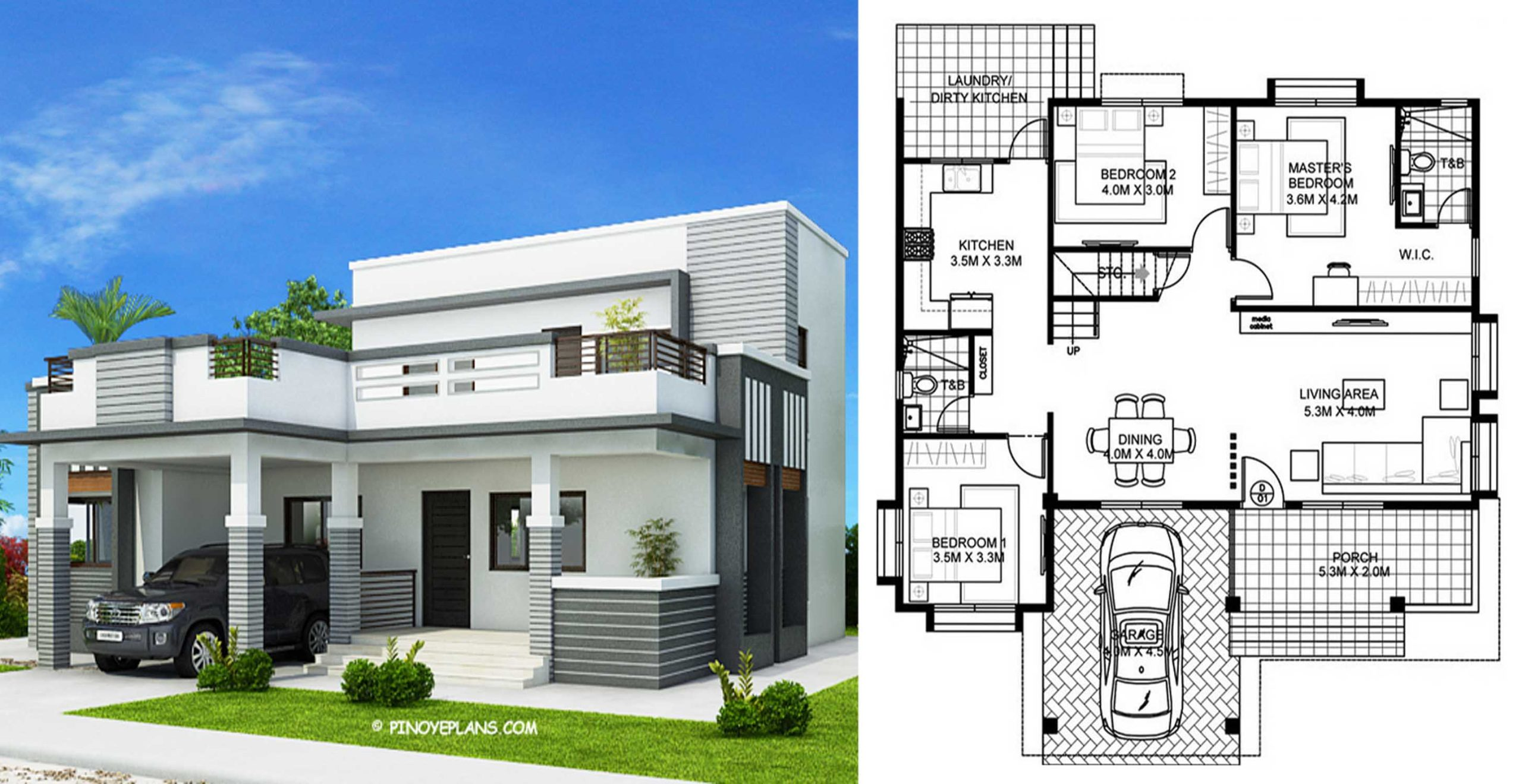 Four Bedroom Modern House Design With