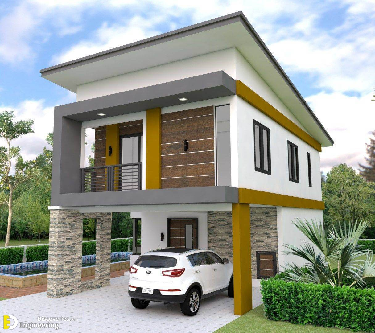 Two Storey House Plan With 3 Bedrooms And 2